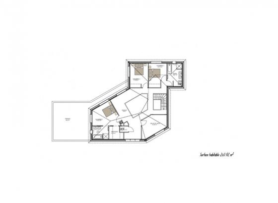 plan-etage-maison-contemporaine-gironde